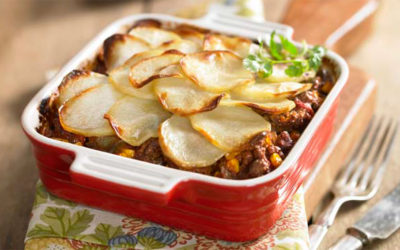 Southwestern Beef and Potato Bake