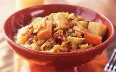 Root Vegetable Tagine and Lentils